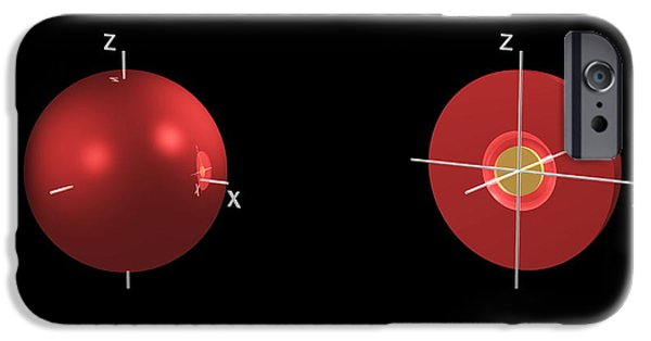 Electron Orbital iPhone Cases - 2s Electron Orbital iPhone Case by Dr Mark J. Winter
