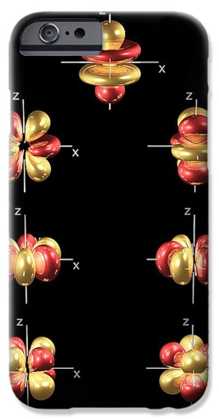 Electron Orbital iPhone Cases - 4f Electron Orbitals, General Set iPhone Case by Dr Mark J. Winter
