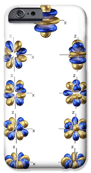 Electron Orbital iPhone Cases - 5g Electron Orbitals iPhone Case by Dr Mark J. Winter