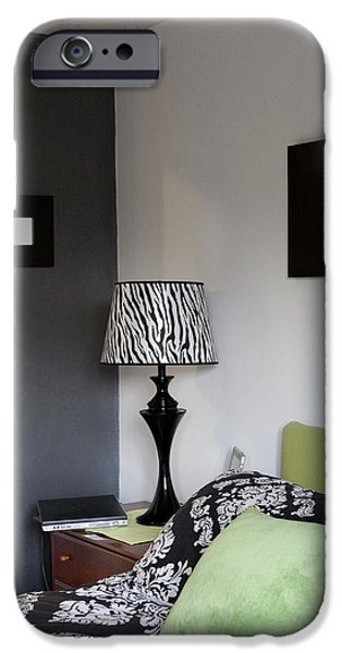 A Bedroom In A House. A Double Bed iPhone Case by Christian Scully