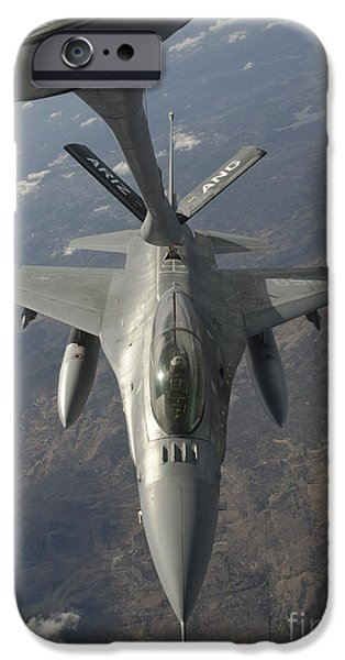 A Chilean Air Force F-16 Refuels iPhone Case by Giovanni Colla