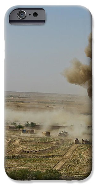A Cloud Of Dust And Debris Rises iPhone Case by Stocktrek Images