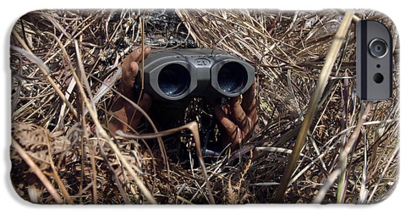 Observer iPhone Cases - A Scout Observer Practices Observation iPhone Case by Stocktrek Images