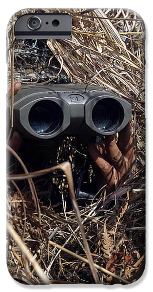 A Scout Observer Practices Observation iPhone Case by Stocktrek Images