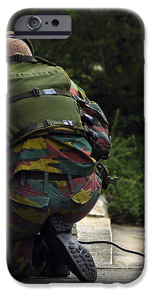 A Soldier Of The Belgian Army iPhone Case by Luc De Jaeger