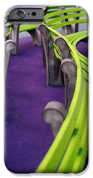 Purple And Green iPhone Cases - A Study in Purple and Green iPhone Case by Jane Linders