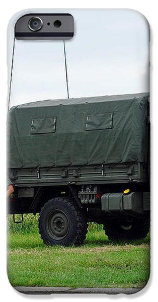 A Unimog Vehicle Of The Belgian Army iPhone Case by Luc De Jaeger