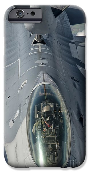 Air Force One iPhone Cases - A U.s. Air Force F-16c Fighting Falcon iPhone Case by Giovanni Colla