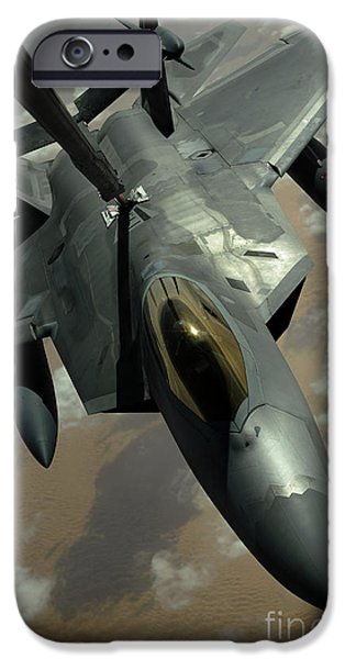 Mechanism iPhone Cases - A U.s. Air Force F-22 Raptor iPhone Case by Stocktrek Images