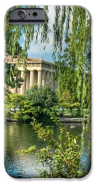 Willow Lake iPhone Cases - A View of the Parthenon 8 iPhone Case by Douglas Barnett