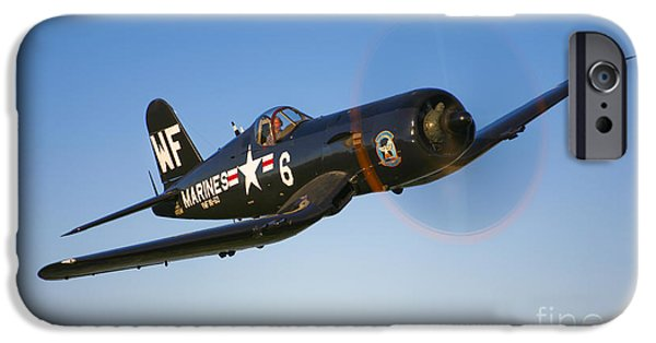 Recently Sold -  - World War One iPhone Cases - A Vought F4u-5 Corsair In Flight iPhone Case by Scott Germain