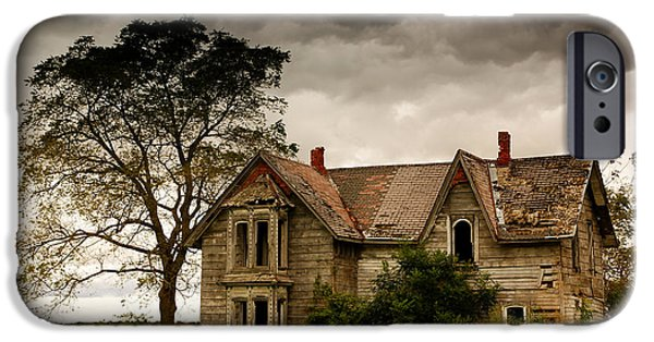 Farm iPhone Cases - Abandoned House iPhone Case by Cale Best