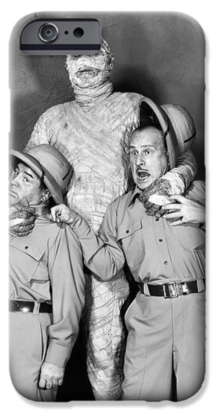 1955 Movies Photographs iPhone Cases - Abbott And Costello iPhone Case by Granger