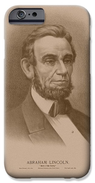 Abraham Lincoln iPhone Cases - Abraham Lincoln iPhone Case by War Is Hell Store