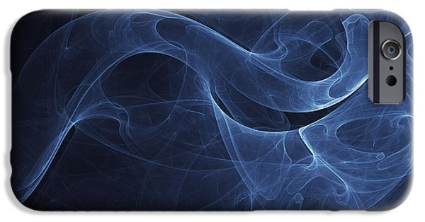 Best Sellers -  - Cyberspace iPhone Cases - Abstract Blue Illustration iPhone Case by Vlad Gerasimov