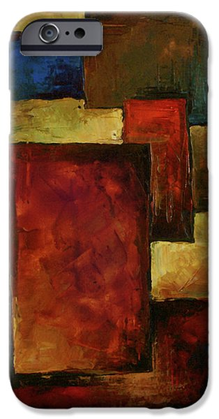 Earth Tones Photographs iPhone Cases - Abstract iPhone Case by Michael Lang