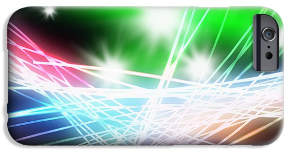 Electronics iPhone Cases - Abstract of stage concert lighting iPhone Case by Setsiri Silapasuwanchai