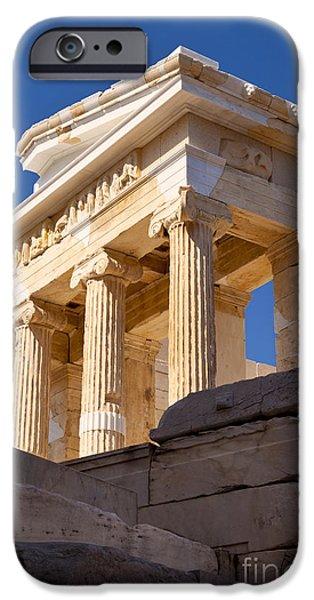 Acropolis iPhone Cases - Acropolis Temple iPhone Case by Brian Jannsen