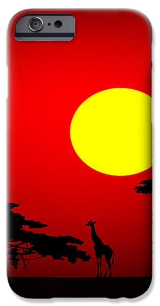 Africa sunset iPhone Case by Michal Boubin