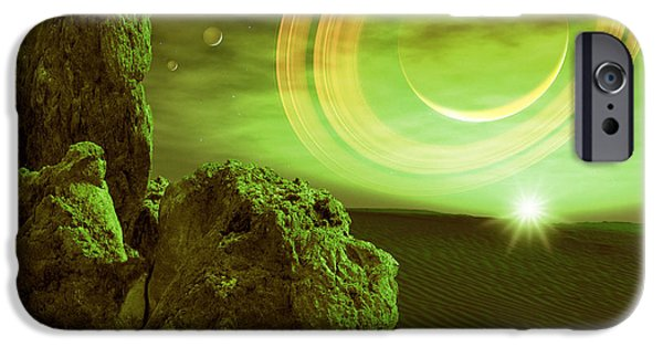 Astrophysics iPhone Cases - Alien Planet iPhone Case by Detlev Van Ravenswaay