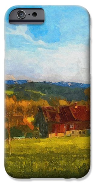Alpine View iPhone Case by Jutta Maria Pusl