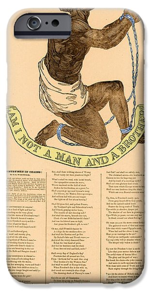 Antislavery iPhone Cases - Am I Not A Man And A Brother iPhone Case by Photo Researchers
