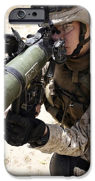 An Assaultman Handles iPhone Case by Stocktrek Images