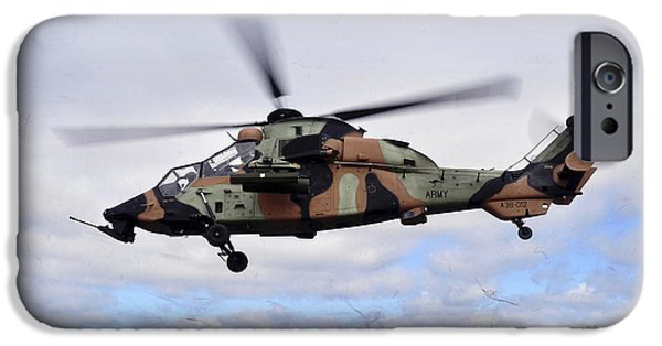 The Tiger iPhone Cases - An Australian Army Tiger Helicopter iPhone Case by Stocktrek Images