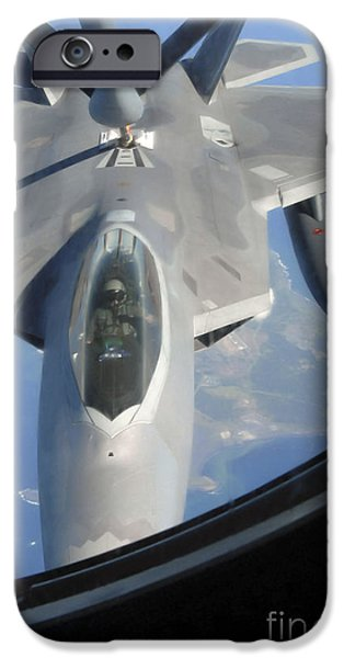 An F-22 Raptor Receives Fuel iPhone Case by Stocktrek Images