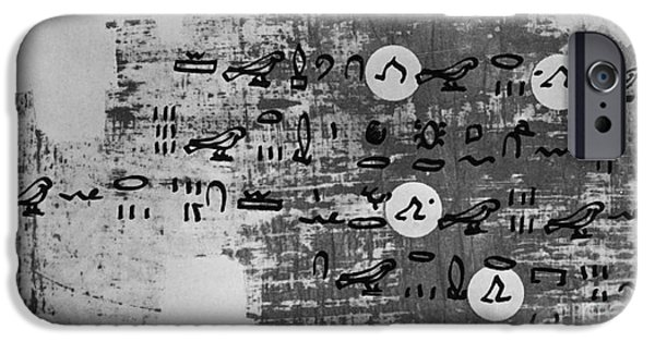 Papyrus iPhone Cases - Ancient Calculation iPhone Case by Photo Researchers, Inc.