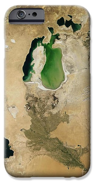 Aral Sea iPhone Case by NASA / Science Source