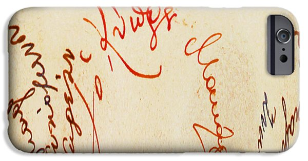 Autographed Digital iPhone Cases - Archbishop Makarios  Autograph iPhone Case by Augusta Stylianou