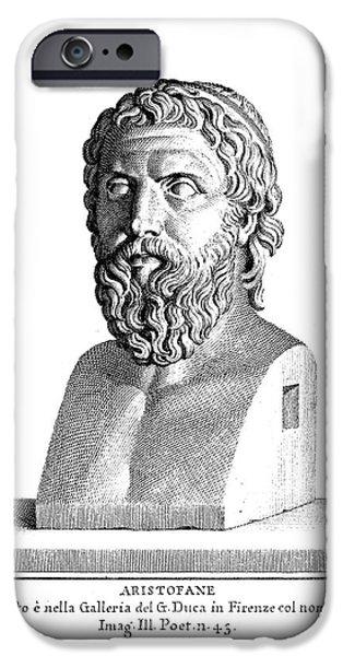 Statue Portrait iPhone Cases - ARISTOPHANES (c450-c388 B.C.) iPhone Case by Granger