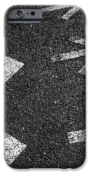 Arrows on Asphalt iPhone Case by Carlos Caetano
