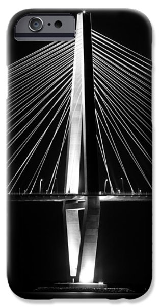 Cable iPhone Cases - Arthur Ravenel Jr. Bridge  iPhone Case by Dustin K Ryan