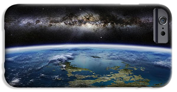 Concept Art iPhone Cases - Artists Concept Of An Extraterrestrial iPhone Case by Frieso Hoevelkamp