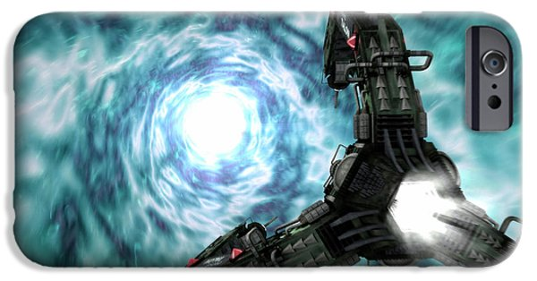Intergalactic Space iPhone Cases - Artists Concept Of The Assimilators iPhone Case by Rhys Taylor