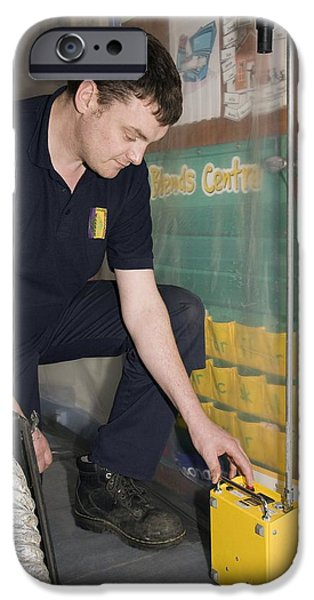 Asbestos Monitoring iPhone Case by Paul Rapson