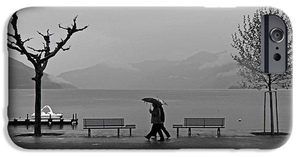 Ascona iPhone Cases - Ascona with rain iPhone Case by Joana Kruse