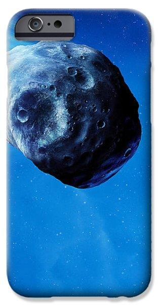 Asteroid Approaching Earth iPhone Case by Detlev Van Ravenswaay