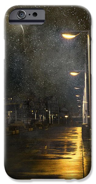 Fog Mist Mixed Media iPhone Cases - at Night iPhone Case by Svetlana Sewell
