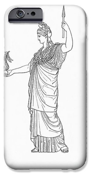Nike iPhone Cases - Athena, Greek Goddess iPhone Case by Photo Researchers