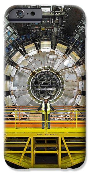 Atlas Detector, Cern iPhone Case by David Parker