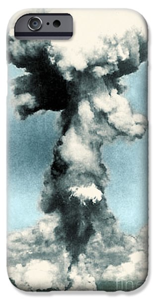 Color Enhanced iPhone Cases - Atomic Bombing Of Nagasaki iPhone Case by Science Source