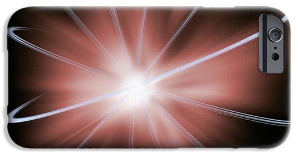 Atom Photographs iPhone Cases - Atomic Energy, Conceptual Artwork iPhone Case by Victor De Schwanberg