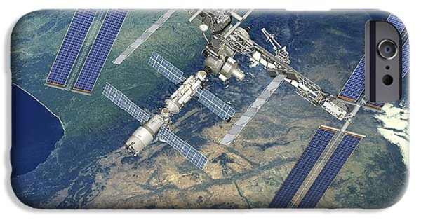 2000s iPhone Cases - Atv Approaching The Iss, Artwork iPhone Case by David Ducros