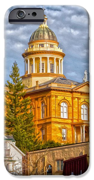 Historic Site iPhone Cases - Auburn Courthouse iPhone Case by Cheryl Young