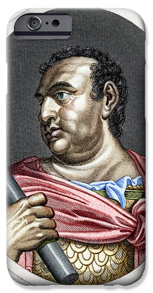 Breastplate iPhone Cases - Aulus Vitellius (15-69 A.d.) iPhone Case by Granger
