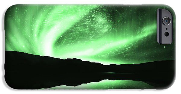 Above iPhone Cases - Aurora iPhone Case by Setsiri Silapasuwanchai