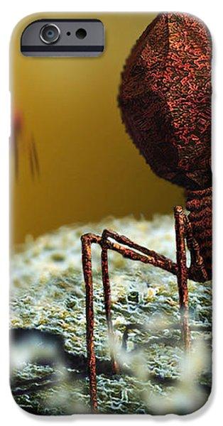 Bacteriophage Viruses iPhone Case by Karsten Schneider